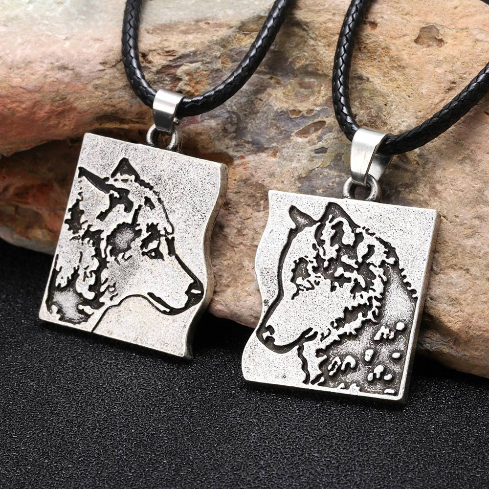 Wolf Lifemates Couples Necklaces