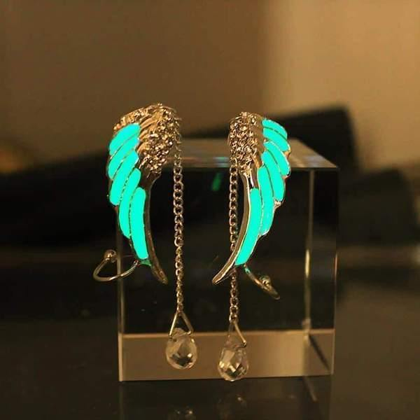 Glow In The Dark Hermes Wings Ear Cuffs