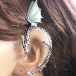 Fanduco Earrings Silver The Whispering Dragon Glow In The Dark Handcrafted Ear Cuff