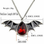 Fanduco Necklaces Crystal Bat Necklace
