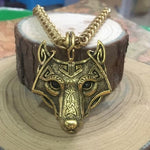 Fanduco Necklaces Gold / Chain Fenrir Wolf Necklace