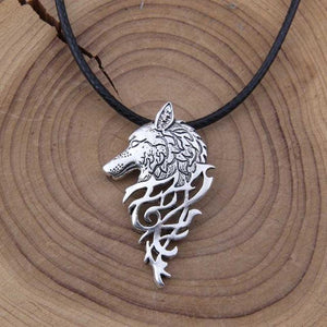 Fanduco Necklaces Silver Wolf Sigil Necklace