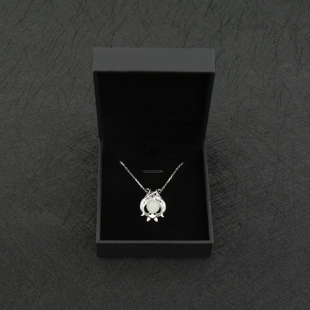 Fanduco Necklaces Sterling Silver Luminous Glow In The Dark Bat Necklace