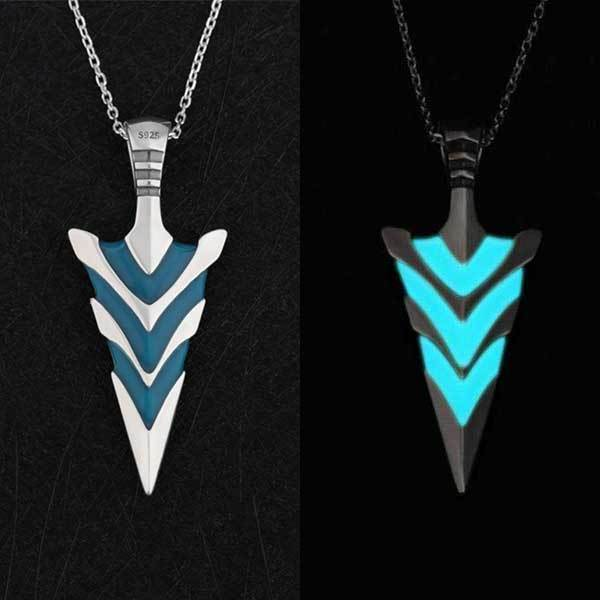 Fanduco Necklaces Sterling Silver / No Arrowhead Glow In The Dark Necklace