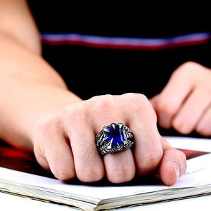 Fanduco Rings 7 / blue colour Ice Dragon Claw Ring