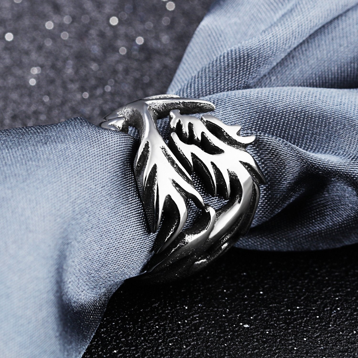 Fanduco Rings 7 Dragon's Fury Stainless Steel Ring