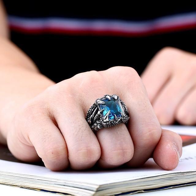 Fanduco Rings 7 / sky blue colour Ice Dragon Claw Ring