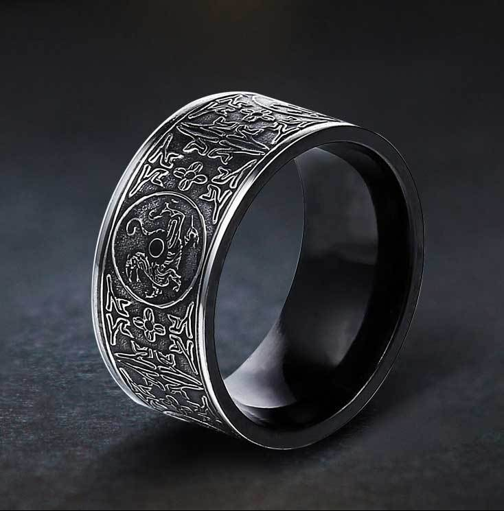 Fanduco Rings Four Celestial Guardians Titanium Steel Ring