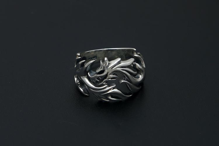 Fanduco Rings Resizable / Sterling Silver Dragon's Fury Ring