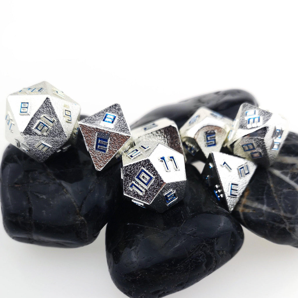 Forged Metal Relief Dice