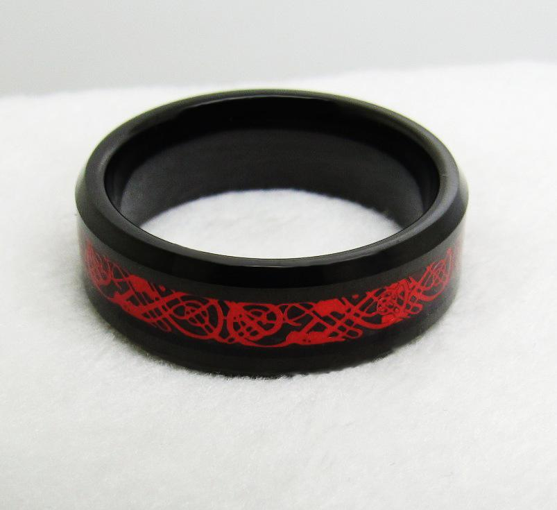 Red Celtic Dragon Rings