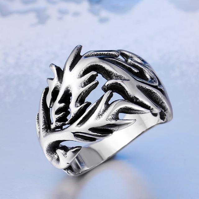 Dragon's Fury Stainless Steel Ring
