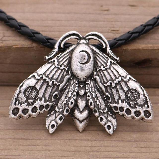 Moon Moth Totem Necklace