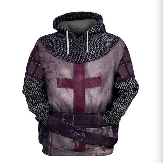 Knight Armor Print Hoodies