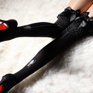 Spider's Web Stockings