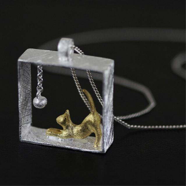 Playful Kitten Necklace - Wyvern's Hoard