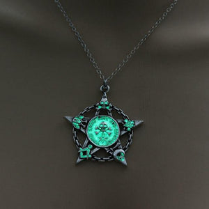 Glow In The Dark Pentagram Necklace