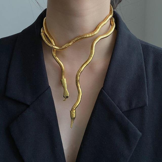 Slithering Snake Bendable Necklace - Wyvern's Hoard