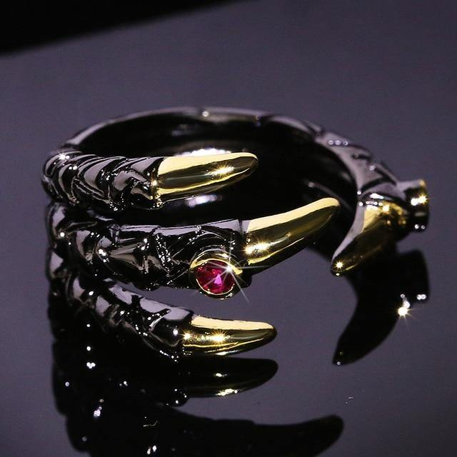 Jeweled Dragon Claw Ring - Wyvern's Hoard
