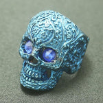 Blue-Eyed Sugar Skull Ring