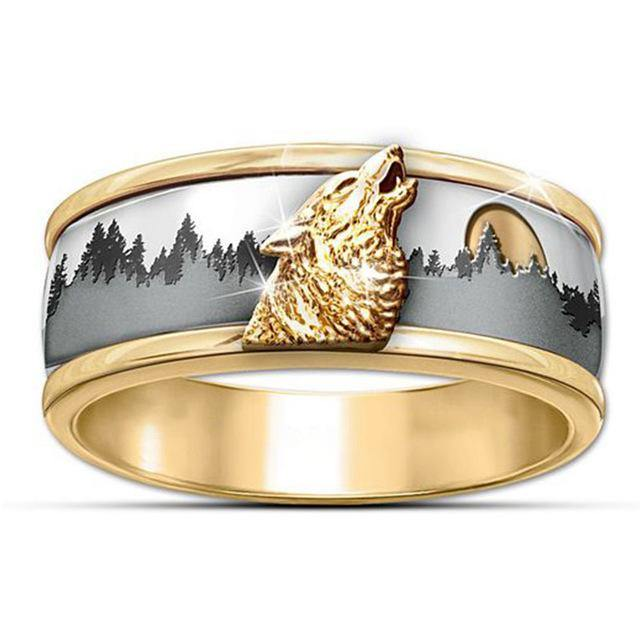 Howling Wolf Ring