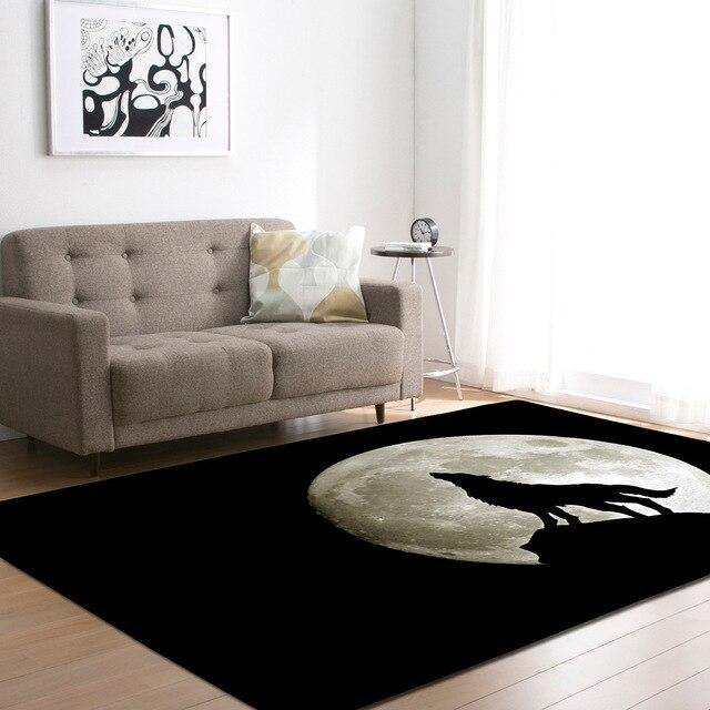 Large Wolf Moon Rugs