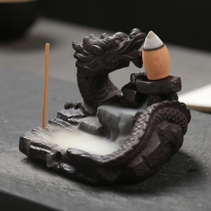 Ornamental Dragon Backflow Incense Burner