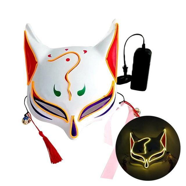 Kitsune Fox Spirit EL Half Mask