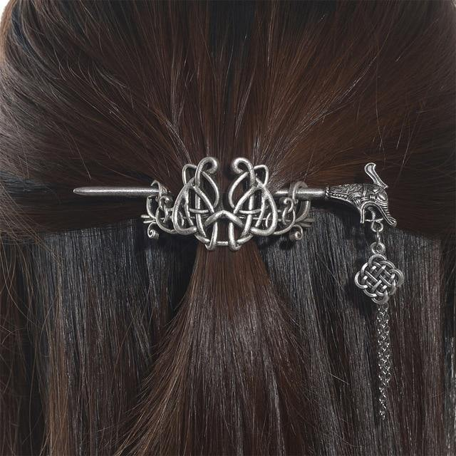 Celtic Dragon Hair Stick Barrette - Wyvern's Hoard