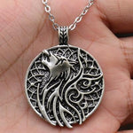 Fenrir Wolf Medallion Necklace