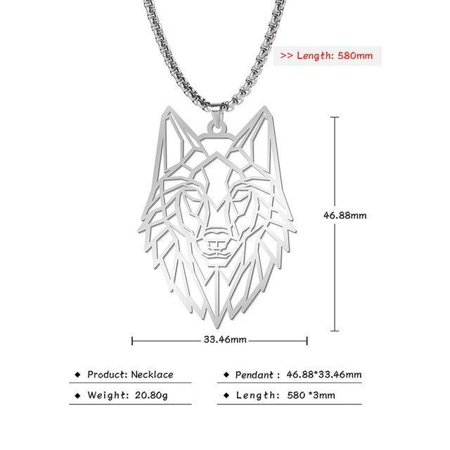 Geometric Wolf Necklaces