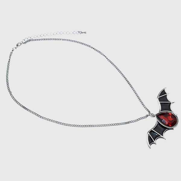 Crystal Vampire Bat Necklace