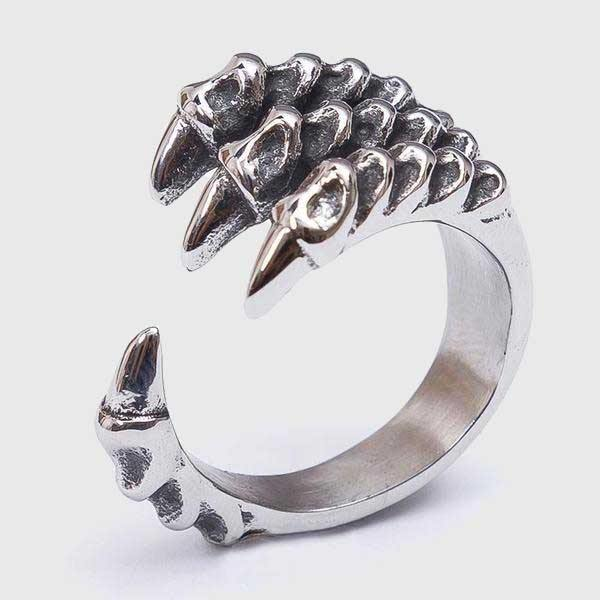 Bone Dragon Claw Ring - Wyvern's Hoard
