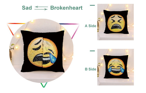 "Image of Changing Face Emoji Decorative Pillowcase ""BUY 1, GET 1 FREE!"" - That Good Deal"