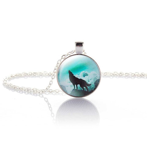 Image of Hot Fashion Wolf Moon Pendant Necklace - That Good Deal