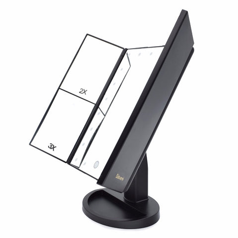 Image of Foldable Triple-Panel LED Makeup Mirror - That Good Deal