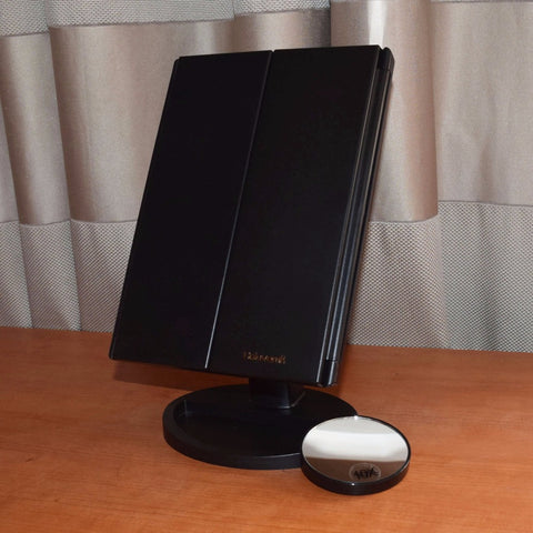 Foldable Triple-Panel LED Makeup Mirror - That Good Deal