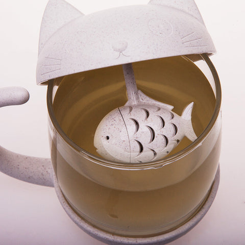 Image of Creative New Tea Strainer Cat Tea Infuser Cup - That Good Deal
