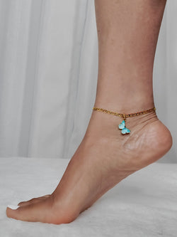Butterfly Pendant Anklet