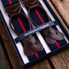 Striped navy/red Albert Thurston braces