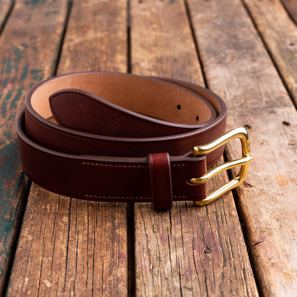 Handmade 31 mm oak bark bridle belt