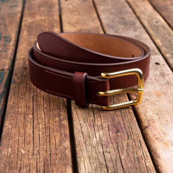 35 mm oak bark stirrup bridle belt