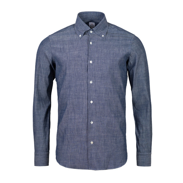 Formal button down denim shirt