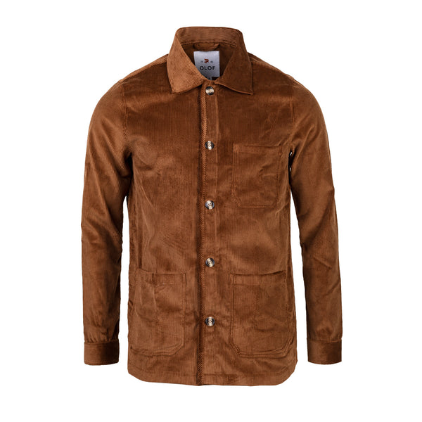 Overshirt in brown British corduroy