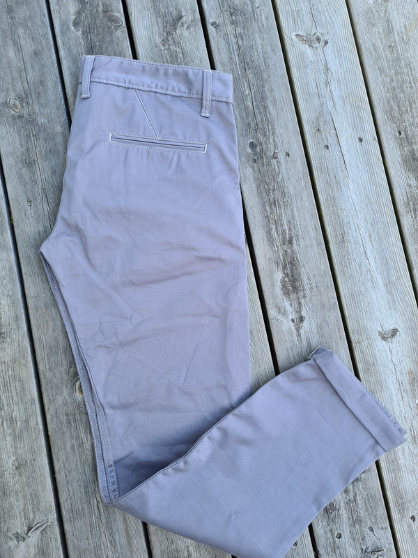2 x selvedge chinos grey