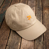 Khaki fox dad cap