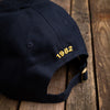 Navy fox crest cap