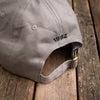 Grey cotton golf cap