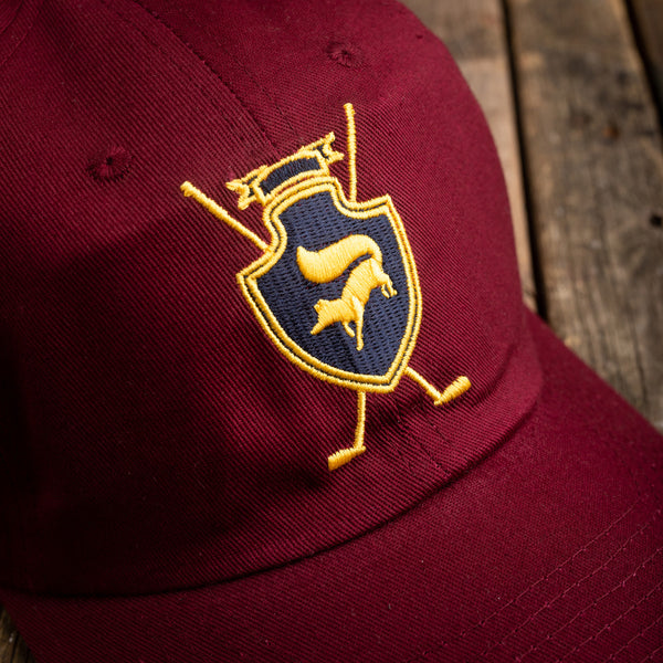Fox crest burgundy cap