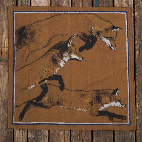 The Foxes et March pocket square